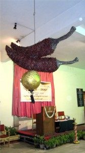 Babitha Lingaraj's sculpture at Chitrakala Parishat 2011