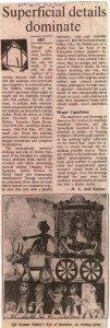 Review of Ajit Kumar Dubey's graphic show at Karnataka Chitrakala Parishath, Bangalore in Indian Express