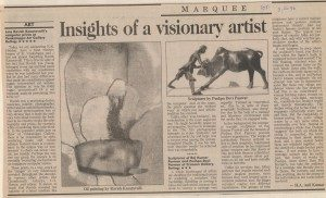 Insights of a visionary artist