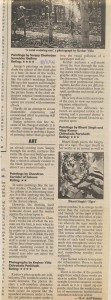 Times of India 10/05/1998 Reviews Paintings by Sanjay Chatterjee,Sumukha Gallery Paintings by Chandran Corridor of colours  Photographs by Keshav Vitla,Chitrakala Parishath Paintings by Bharti Singh and Vijay Kumar Chitrakala Parishath