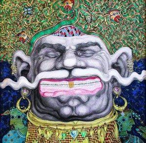 671160Chandranath Acharya -A5-01-1112-Tickling Joy 36x36 Acrylic on Canvas